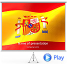 Flag of Spain Animated PowerPoint Template