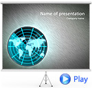 Green Radiolocator Animated PowerPoint Template