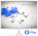 Blue Puzzle Animated PowerPoint Template