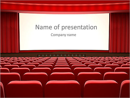 Cinema animated powerpoint template design id 0000003134 cinema animated powerpoint template slide 1 toneelgroepblik Choice Image