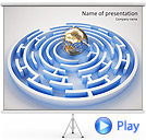 Globe in Labyrinth Animated PowerPoint Template