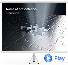 Silver Puzzle Animated PowerPoint Template