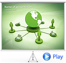 Globe Network Animated PowerPoint Template