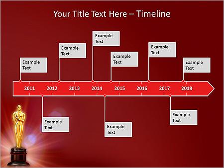 Oscar Awards Animated Powerpoint Template Design Id 0000003144