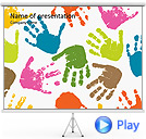 Colorful Hands Animated PowerPoint Templates