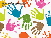 Colorful Hands Animated PowerPoint Template - Slide 1