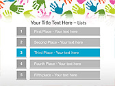 Colorful Hands Animated PowerPoint Template - Slide 2