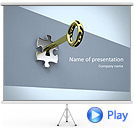 Key in the Puzzle Animated PowerPoint Template