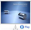 Cans Communication Animated PowerPoint Template
