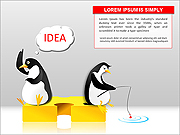 Penguins PPT Diagrams & Chart