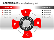 Red Screw PPT Diagrams & Chart