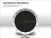 Circle Sectors PPT Diagrams & Charts