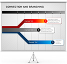 Connection and Branching PPT Diagrams & Chart