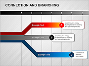 Connection and Branching PPT Diagrams & Charts