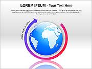 Globe Des schémas et des diagrammes pour PowerPoint