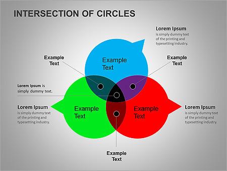 Пересечение окружностей Схемы и диаграммы для PowerPoint