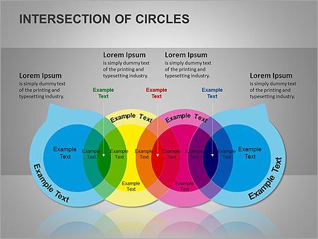 Пересечение окружностей Схемы и диаграммы для PowerPoint - Слайд 10