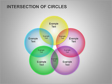 Пересечение окружностей Схемы и диаграммы для PowerPoint - Слайд 12