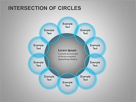 Пересечение окружностей Схемы и диаграммы для PowerPoint - Слайд 14