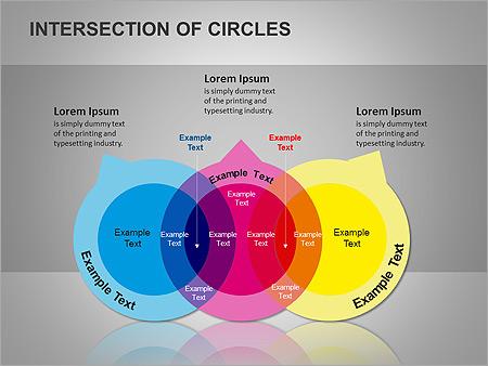 Пересечение окружностей Схемы и диаграммы для PowerPoint - Слайд 9