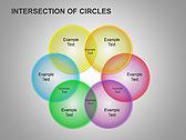 Пересечение окружностей Схемы и диаграммы для PowerPoint - Слайд 13
