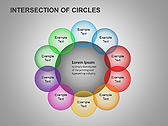 Пересечение окружностей Схемы и диаграммы для PowerPoint - Слайд 15
