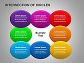 Пересечение окружностей Схемы и диаграммы для PowerPoint - Слайд 3