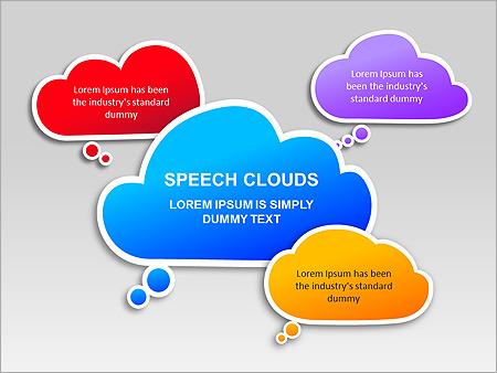 Речевые Облака Схемы и диаграммы для PowerPoint