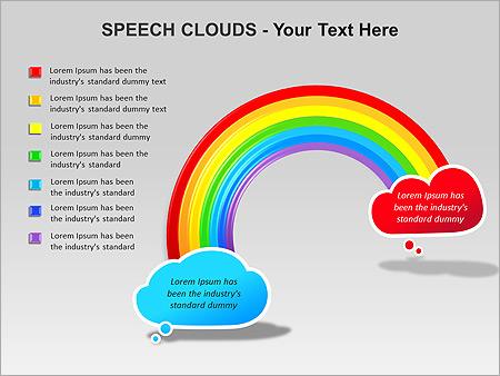Речевые Облака Схемы и диаграммы для PowerPoint - Слайд 11
