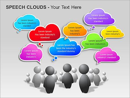 Речевые Облака Схемы и диаграммы для PowerPoint - Слайд 15