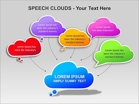 Речевые Облака Схемы и диаграммы для PowerPoint - Слайд 3