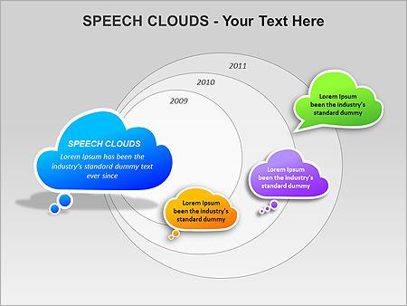 Речевые Облака Схемы и диаграммы для PowerPoint - Слайд 6