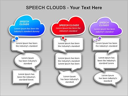 Речевые Облака Схемы и диаграммы для PowerPoint - Слайд 9