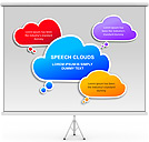 Speech Clouds PPT Diagrams & Chart