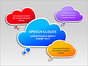 Speech Clouds PPT Diagrams & Charts