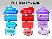 Речевые Облака Схемы и диаграммы для PowerPoint - Слайд 10