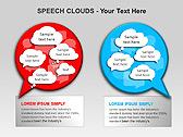Речевые Облака Схемы и диаграммы для PowerPoint - Слайд 12