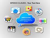 Речевые Облака Схемы и диаграммы для PowerPoint - Слайд 14