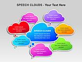 Речевые Облака Схемы и диаграммы для PowerPoint - Слайд 2