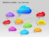 Речевые Облака Схемы и диаграммы для PowerPoint - Слайд 4