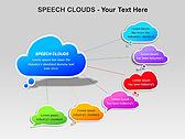 Речевые Облака Схемы и диаграммы для PowerPoint - Слайд 7