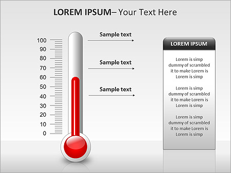 Thermometer PPT Diagrams & Charts