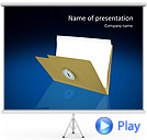 Documents Folder Animated PowerPoint Template