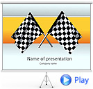 Car Racing Animated PowerPoint Template