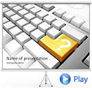 Keyboard Question Mark Animated PowerPoint Template