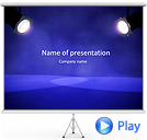 Stage Projector Animated PowerPoint Template