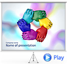 Teambuilding Work Animated PowerPoint Template