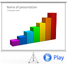 Multicolored Business Graph Animated PowerPoint Templates