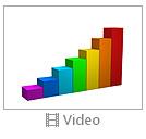 Multicolored Business Graph Video