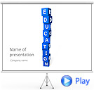 Education Blocks Animated PowerPoint Template